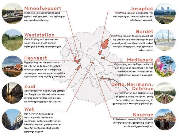 10 strategische wijken