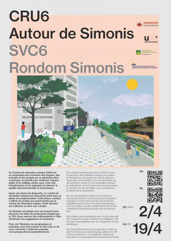"""Affiche de la balade participative """"Tour de Simonis"""""""