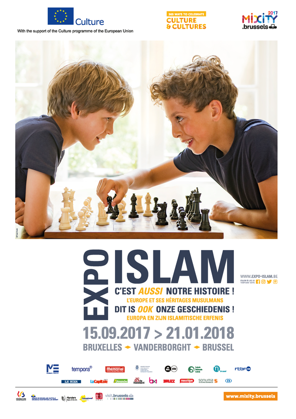"""Affiche van de tentoonstelling """"Islam, dit is ook onze geschiedenis"""""""
