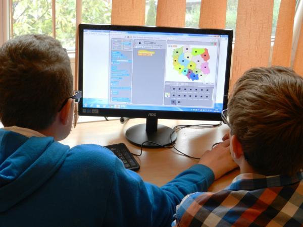 De computer op school