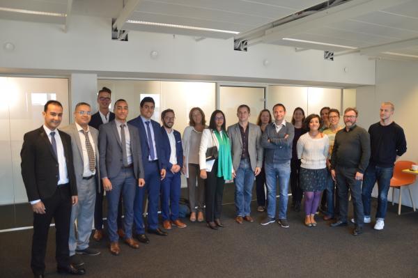 Een Marokkaanse delegatie op bezoek