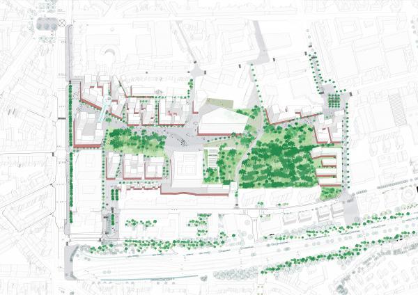 Extension du parc urbain, plus généreux et plus vert