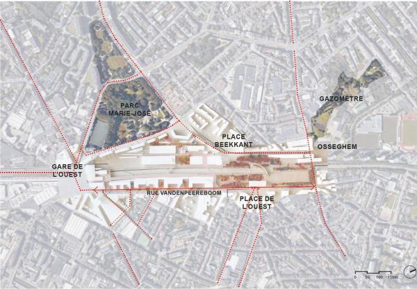 Weststationsite - integratie van het project in de wijk