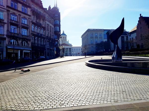 """""""leeg Brussel"""" tijdens de lockdown - maart 2020"""