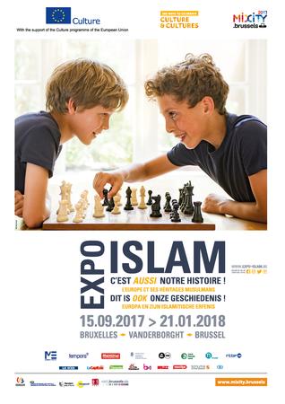 """Affiche de l'exposition """"L'islam, c'est aussi notre histoire"""""""