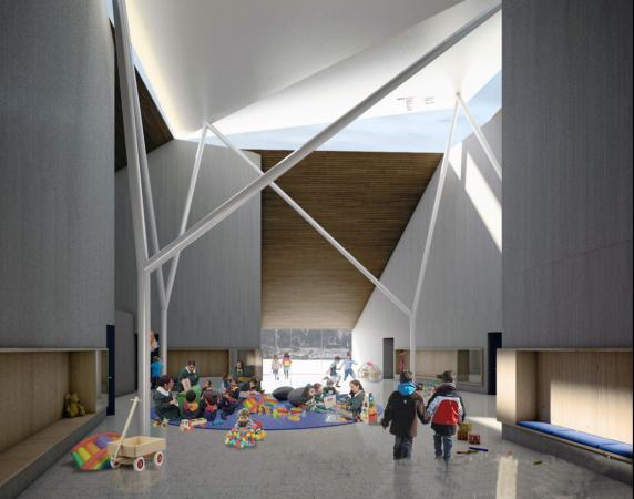 Ecole Bernardo O'Higgins à Porvenir, Chili (architecte German del Rio)