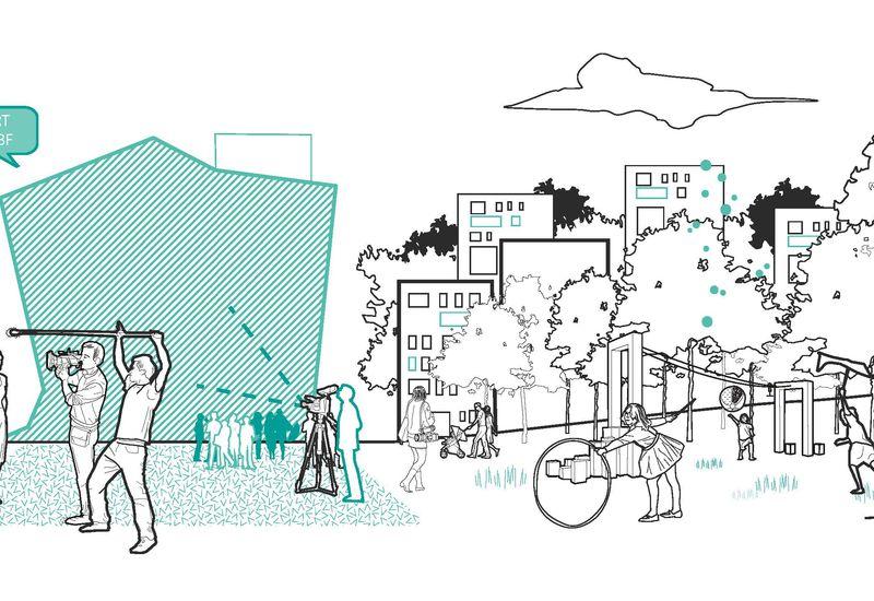 concepttekening Mediapark