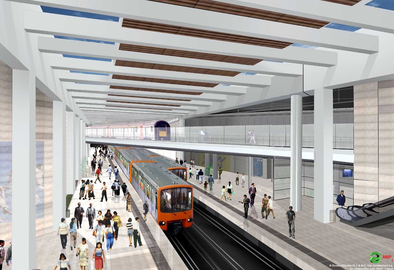 Projet métro, quartier européen (Schuman)