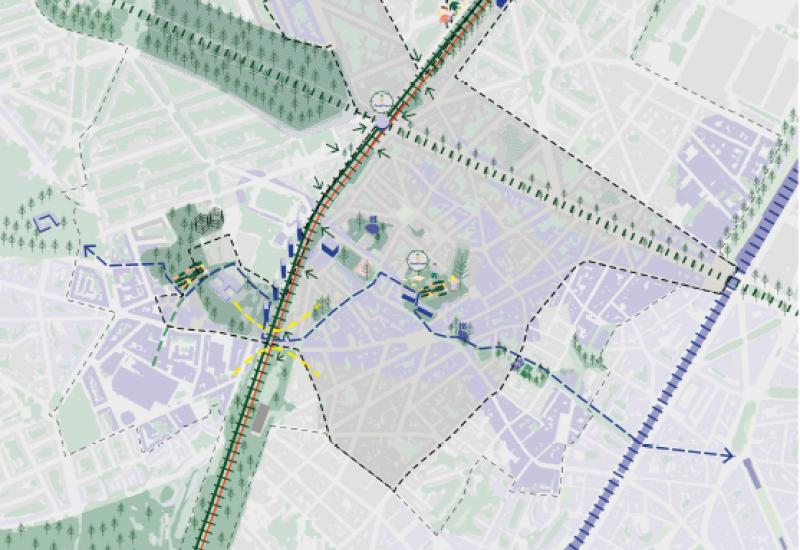 Carte de la zone étudiée « autour de Simonis »