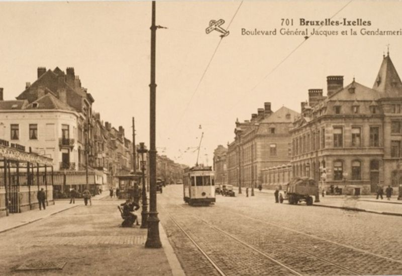 View of the police quarter from Avenue de la Couronne (1930s)