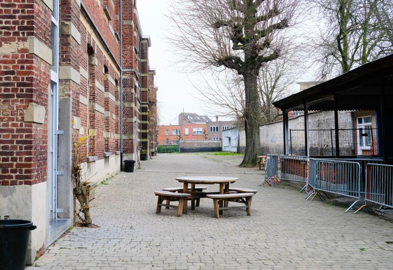 Speelplaats van de school Marius Renard