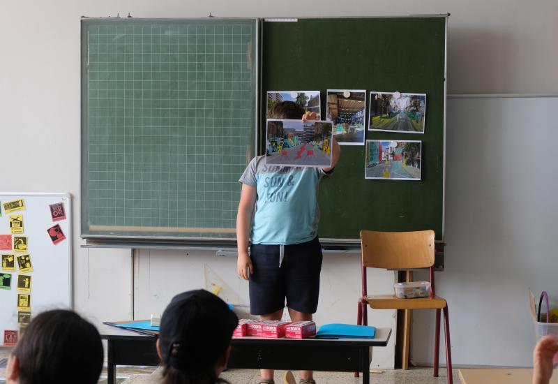 atelier met de leerlingen van de school Champagnat