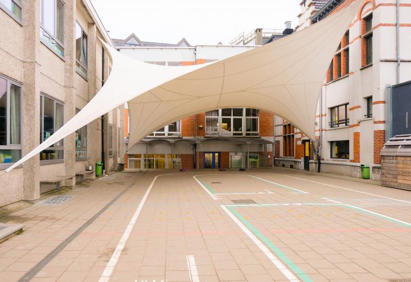Speelplaats van de school Champagnat