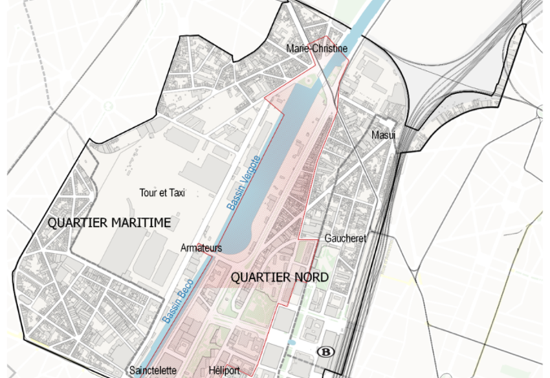 Extract of Regional Plan of Land Use (PRAS – GBP), north district - maritime district