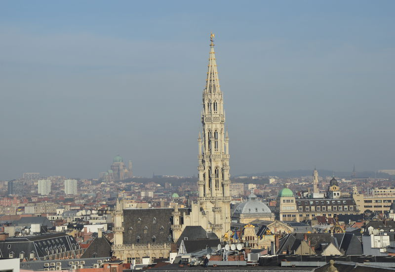 View of Brussels (Town Hall of Grand Place)